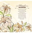 Brown background with blooming lilies vector image vector image