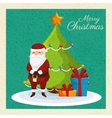 card merry christmas and new year design isolated vector image vector image