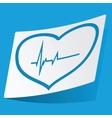 Cardilolgy sticker vector image vector image
