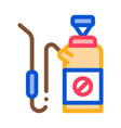 chemical extinguisher icon outline vector image