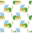childish tiger seamless pattern vector image vector image