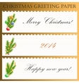 Christmas greeting paper with text vector image vector image