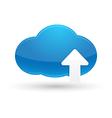 Cloud Computing Upload Icon vector image
