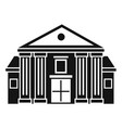 column courthouse icon simple style vector image vector image