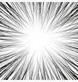 comic book black and white radial lines background vector image vector image