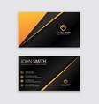 creatiel business card template vector image vector image