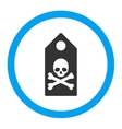 Death Mark Rounded Icon vector image vector image