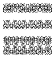 Decorative Ornate Frames vector image vector image
