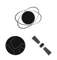 design of mars and space symbol collection vector image