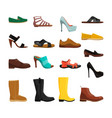 different casual shoes of men and women vector image
