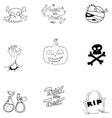 Doodle art Halloween object vector image vector image