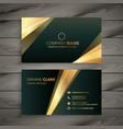 elegant premium golden business card template vector image vector image