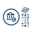 Euro Bank Settings Flat Icon With Bonus vector image vector image
