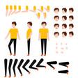 flat caucasian student creation set vector image vector image