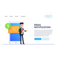 flat email notificztion concept businessman or vector image vector image