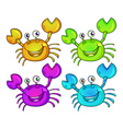 Four colourful crabs vector image