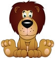 funny of a lion vector image