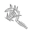 gardening sickle hand drawn icon outline black vector image