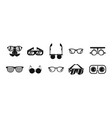 glasses icon set simple style vector image vector image