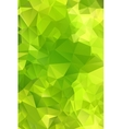 Green abstract background polygon vector image vector image