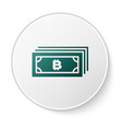 green cryptocurrency concept bitcoin in circle vector image vector image