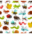 insects and bugs seamless pattern background vector image vector image