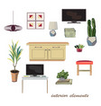 interior design elements furniture collection vector image vector image