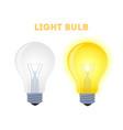 light bulbs - glowing element shining lamp vector image