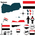 Map of Yemen vector image vector image