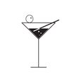 martini glass on white vector image vector image