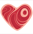 meat heart vector image vector image