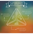 Modern infographic triangle shape vector image