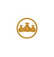 money bag icon template vector image