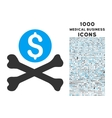 mortal debt icon with 1000 medical business icons vector image vector image
