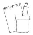 notebook school with pencil vector image