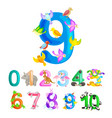 ordinal numbers 9 for teaching children counting vector image vector image
