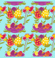 painted eggs seamless pattern easter religious vector image vector image