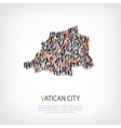 people map country Vatican City vector image