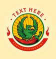 perico restaurant mascot logo with chili vector image vector image