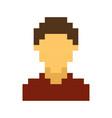 pixel avatar male cartoon retro game style vector image vector image