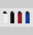 plastic lighter disposable realistic 3d isolated vector image