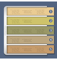 Retro design template for infographics vector image vector image