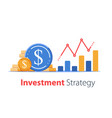 revenue increase high interest rate income vector image