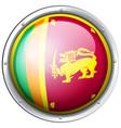 round badge for sri lanka flag vector image vector image