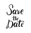 save the date postcard wedding phrase vector image vector image