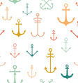 Seamless pattern with anchors vector image vector image