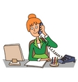 secretary in the office vector image vector image