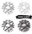 set abstract elements vector image