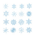 set different snowflakes vector image vector image