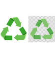 set of green recycle icon vector image vector image